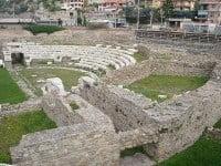 Remains of the Roman theatre in Ventimiglia, Italy.