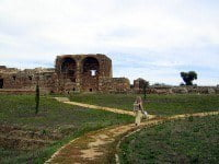 The ruins of São Cucufate include the remains of a Roman Villa and a later monastic community. © Nemracc - Wikipedia