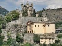 The last 12th century Saint-Pierre Castle, Aosta Valley.