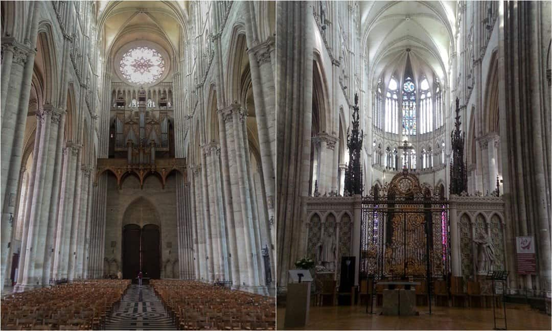 The Interior Of Amiens Cathedral Largest Church In France By Internal Volume