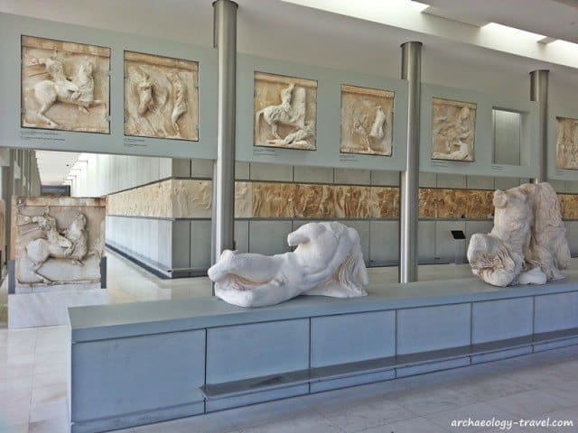 A replica of the Ilissos statue in the Acropolis Museum.