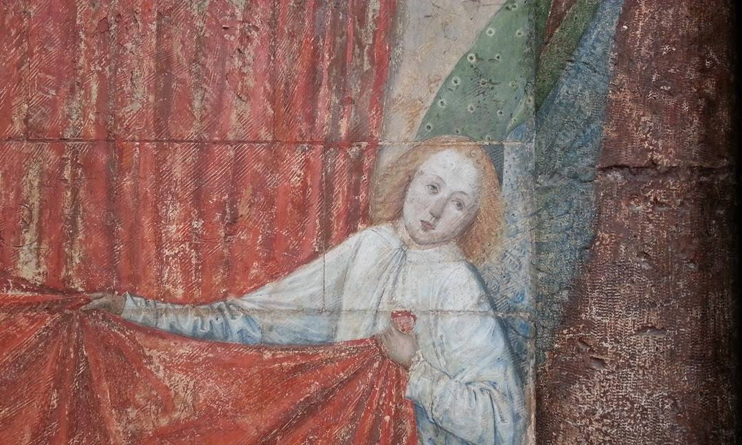 Polychrome painting on stone in the cathedral, circa 1495.