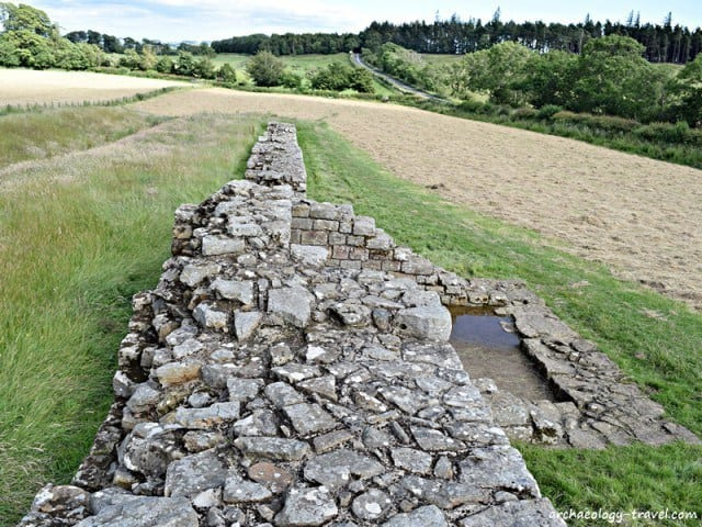 A portion of Hadrian's Wall at Black Carts Turret.