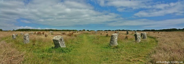 The Merry Maidens Neolithic stone circle, near Penzance, Cornwall.