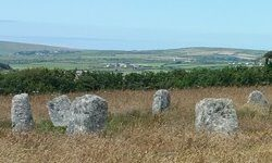 Part of the Merry Maidens Stone Circle.