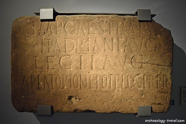 Building stone from Milecastle 38 with an inscription that confirms Hadrian ordered the building of the Wall.