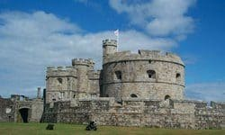 The 16th century Pendennis Castle.