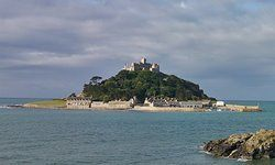 Saint Michael's Mount at high tide.