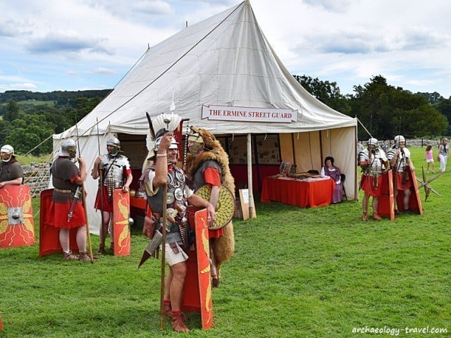 The Ermine Street Guard performing at Chesters Roman Fort.