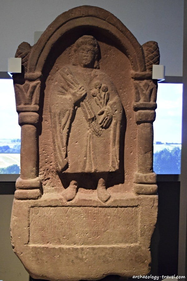 One of many Roman tombstones in the Great North Museum, Newcastle.