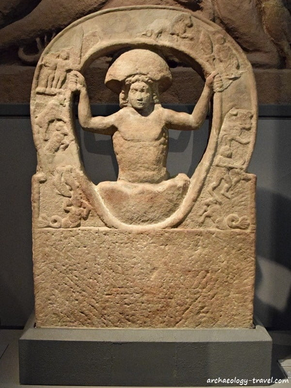 A rare depiction of Mithras being born from the cosmic egg, Great North Museum.
