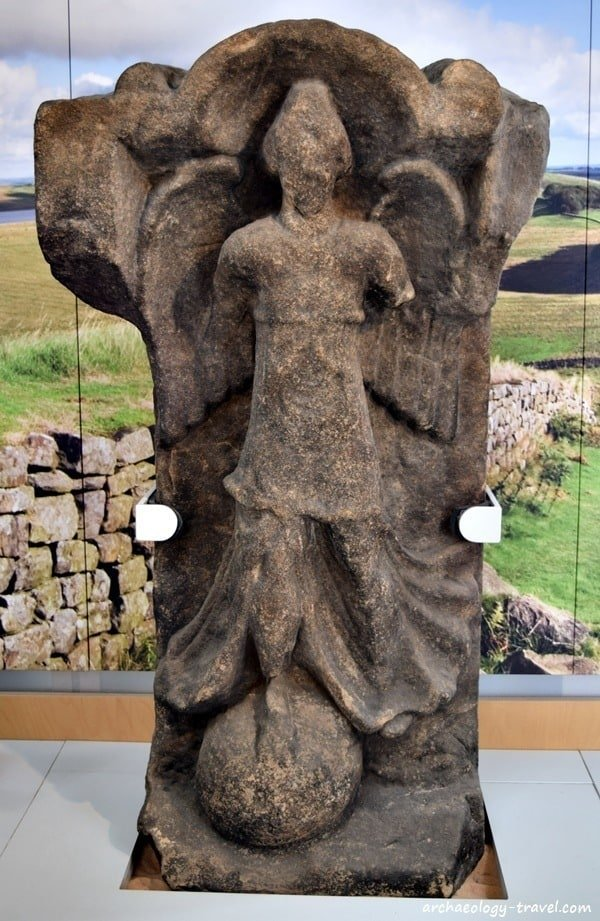 Winged statue of Victory - symbolises success in battle, from Housesteads Roman Fort.