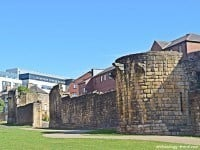 The city walls in Newcastle were built for defence in the 13th and 14th centuries.