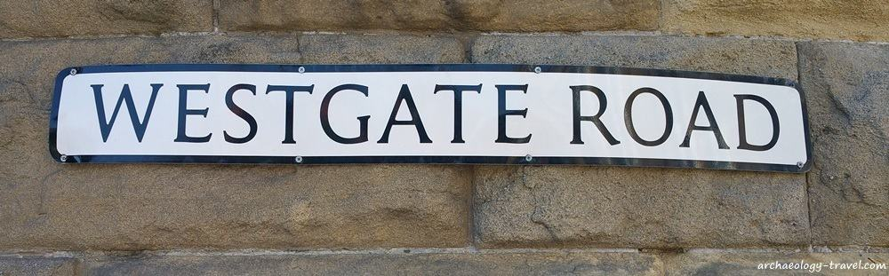 Westgate Road, probably started at the west gate of the  Roman fort and followed the line of Hadrian's Wall. westwards out of Newcastle.