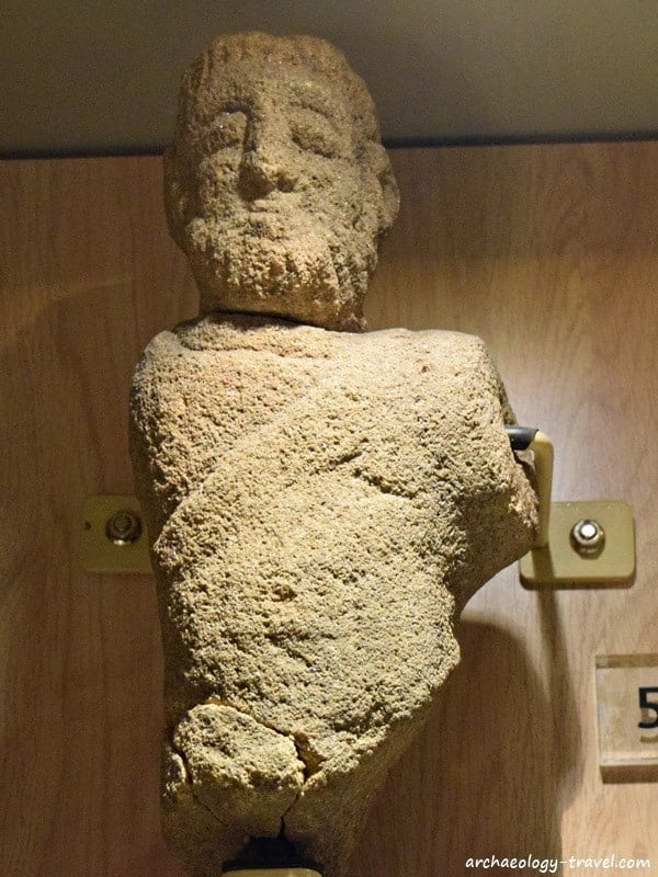 Mars, the Roman god of war in the museum in the Museum at Arbeia Roman Fort.