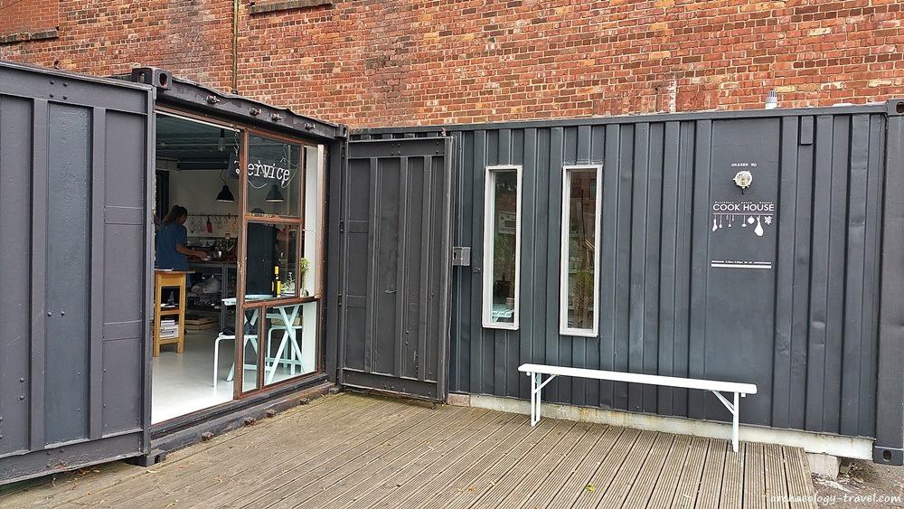 The Cook House - converted shipping containers, Newcastle.