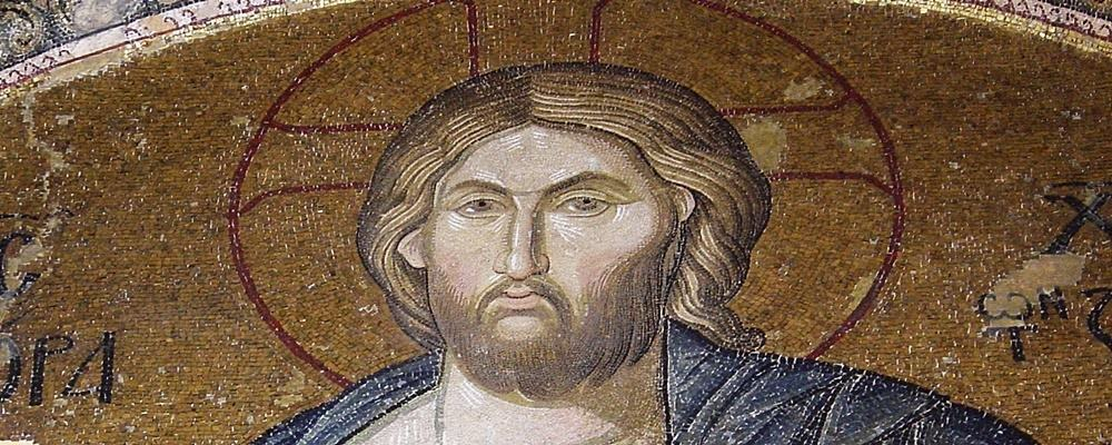 Christ Pantocrator mosaic in Chora Church, Istanbul.
