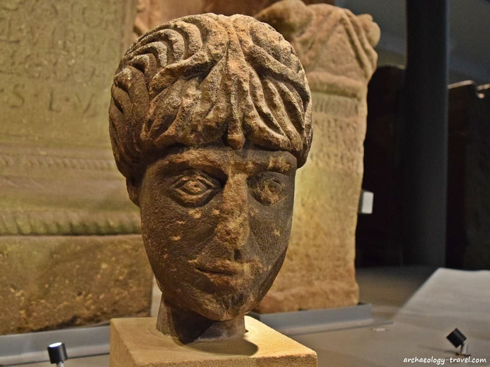Sculpture of the native god Antenociticus, in the Great North Museum - Hancock, Newcastle.