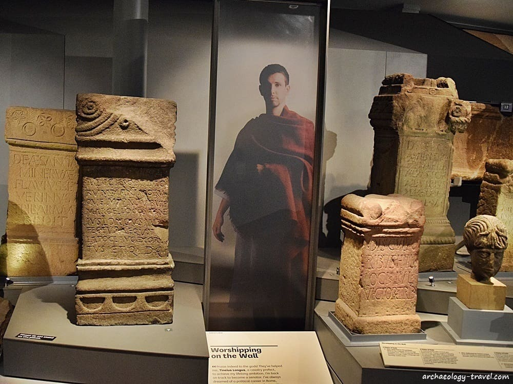 The Benwell altars in the Great North Museum in Newcastle.