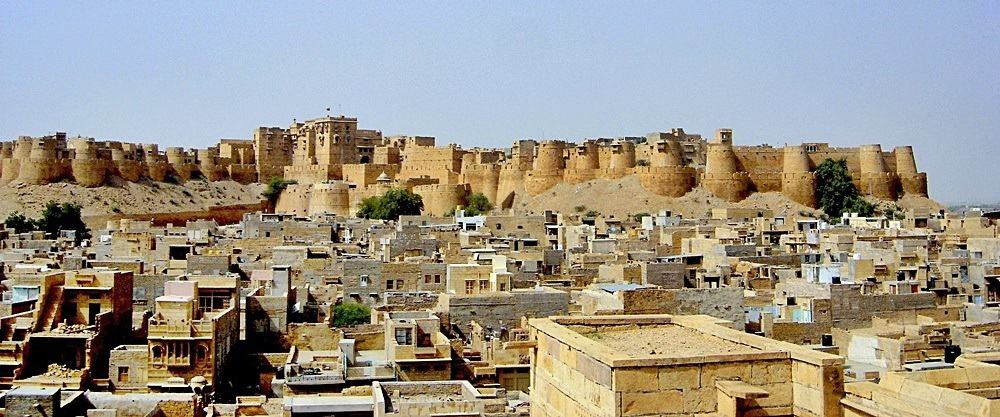 The spectacular Jaisalmer Fort in Rajasthan. © Gérard Janot - Wikimedia