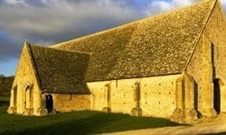 The late Medieval stone barn of Great Coxwell.