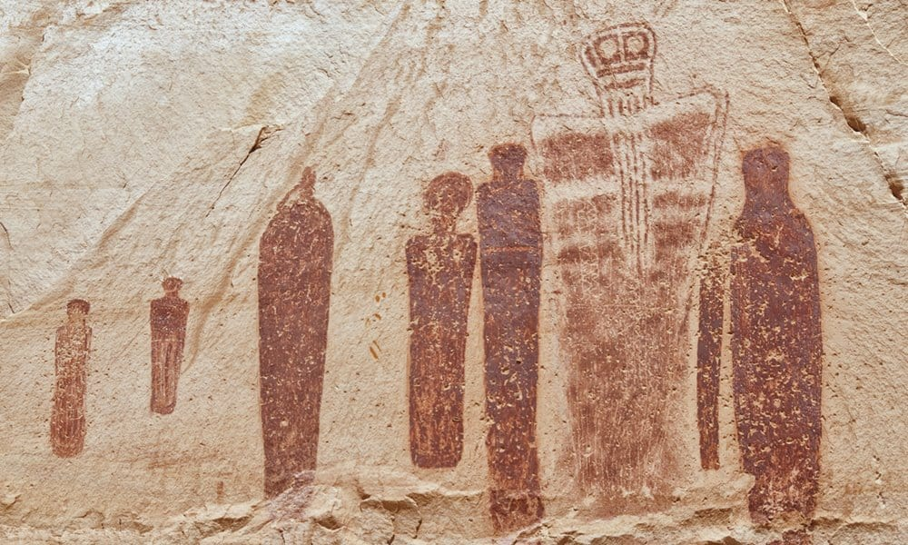 The Holy Ghost panel in the Great Gallery, Horseshoe Canyon, Utah.