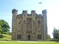 The ruined 14th century Hylton Castle, in Tyne and Wear.