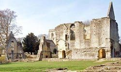 Ruins of the Minster Lovell Hall, once a Medieval manor house.