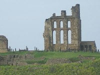 The early kings of Northumbria are buried in the Benedictine Priory.