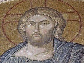 Christ Pantocrator mosaic in Chora Church, Istanbul.