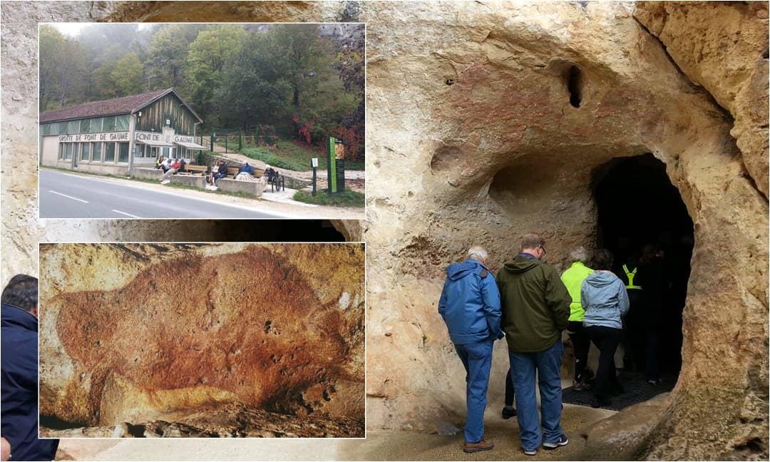 Entering the cave of Font de Gaume in Les Eyzies, France.
