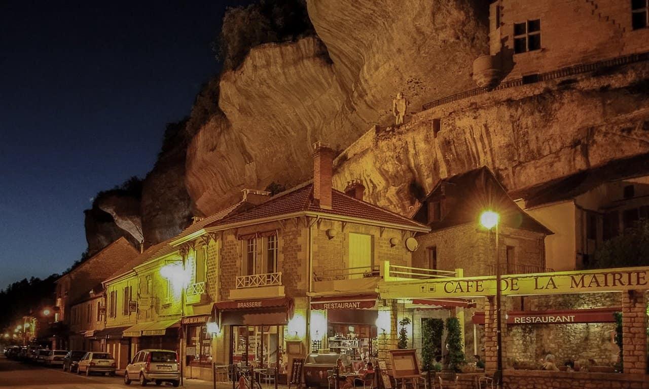 Cafe de la Marie in Les Eyzies, France.