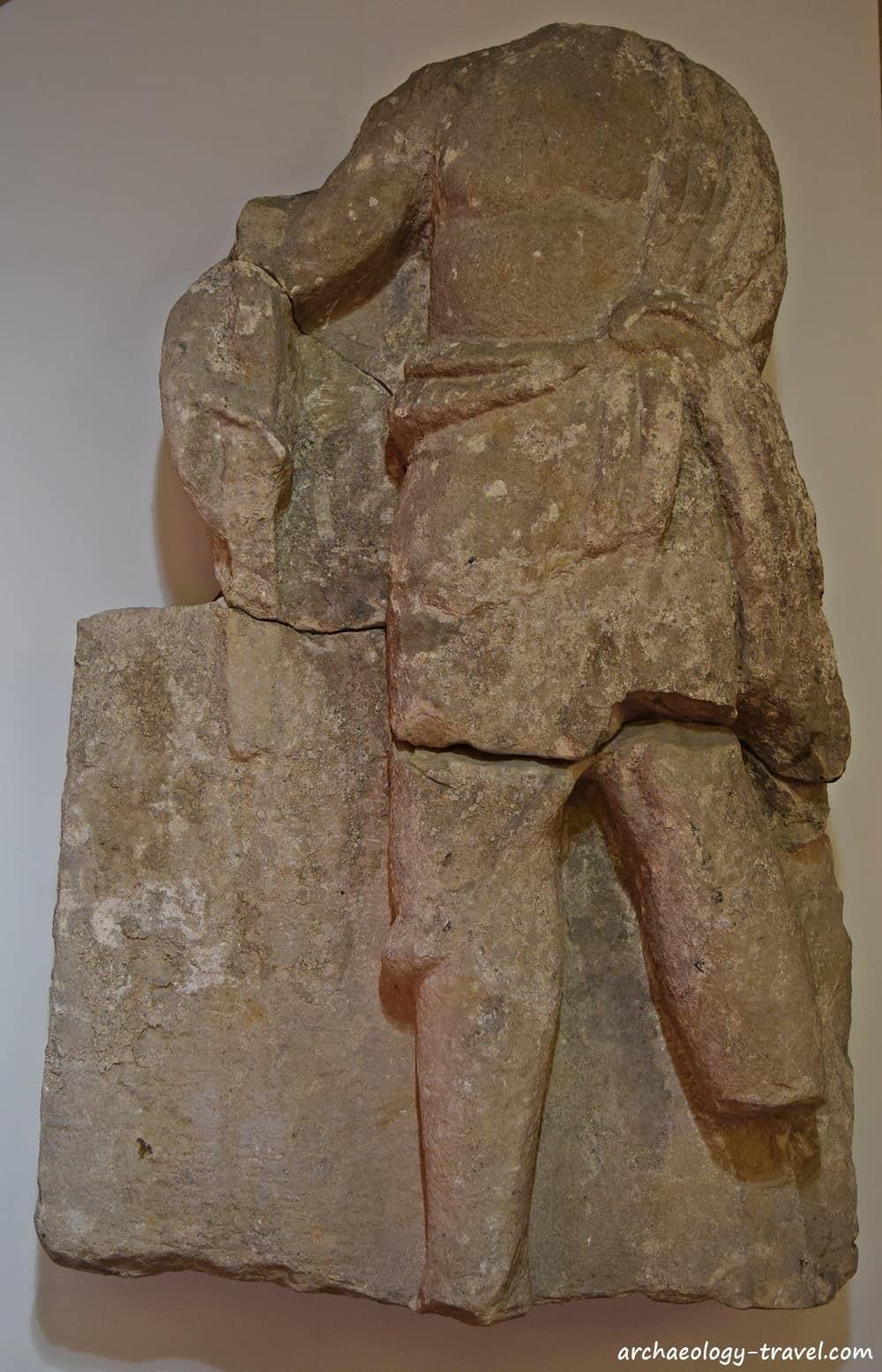 Spolia from Corbridge in Hexham Abbey.