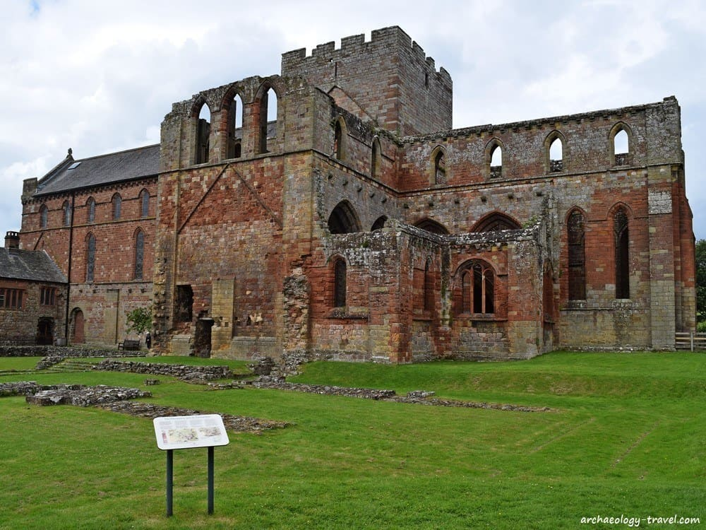 Stones from Hadrian's Wall were used to build Lanercost Priory.