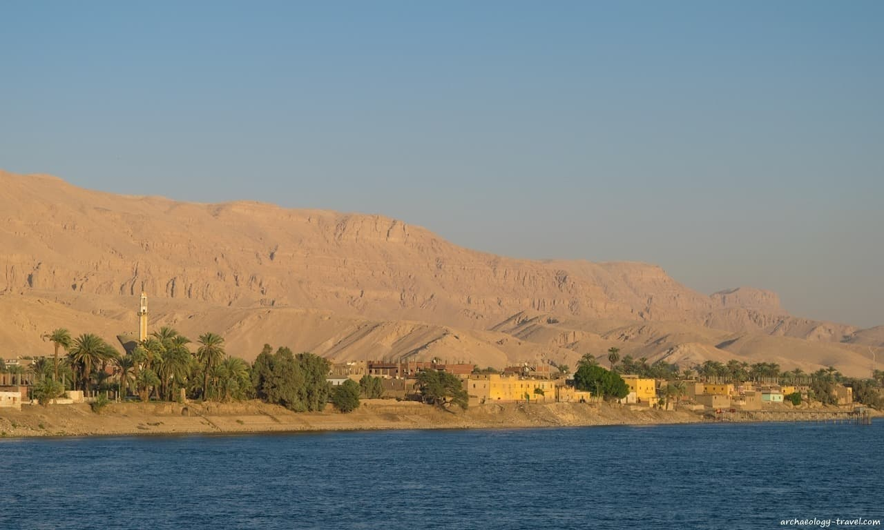 A riverside town south of Luxor.