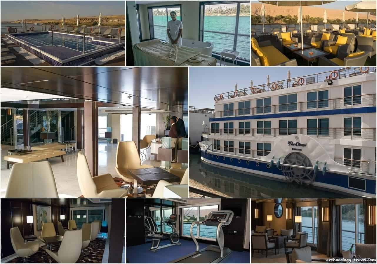 The Oberoi Philae luxury Nile Cruise ship.