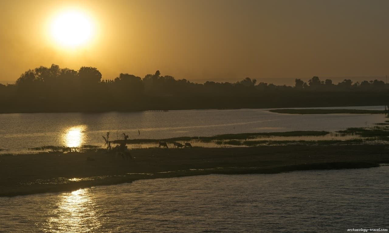 Sunset on the Nile as viewed from the Oberoi Philae.