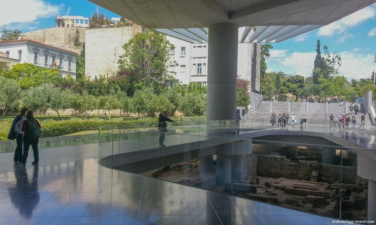 Under the Acropolis Museum - Archaeology Travel