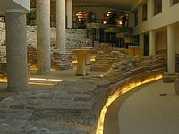 Remains of the Roman amphitheatre in Sofia, Bulgaria.