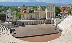 The 2nd century AD Roman theatre in Plovdiv, Bulgaria. © Dennis Jarvis