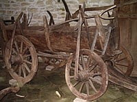 Wooden cart at the Etara open air museum, north central Bulgaria. © BloodIce