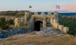 Entrance to the Ovech Fortress above the town of Provadia, Bulgaria
