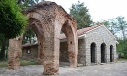 The entrance to the original Thracian tomb at Kazanlak, Bulgaria.