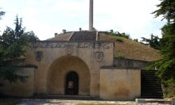 The symbolic Vladislav Varnenchik Mausoleum in the memorial park to the Battle of Varna.