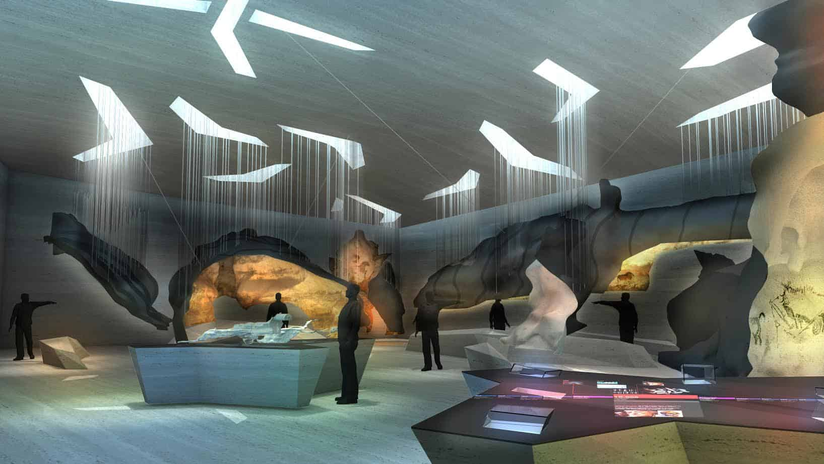 A visualisation of part of the International Centre for Cave art in Montignac, France.