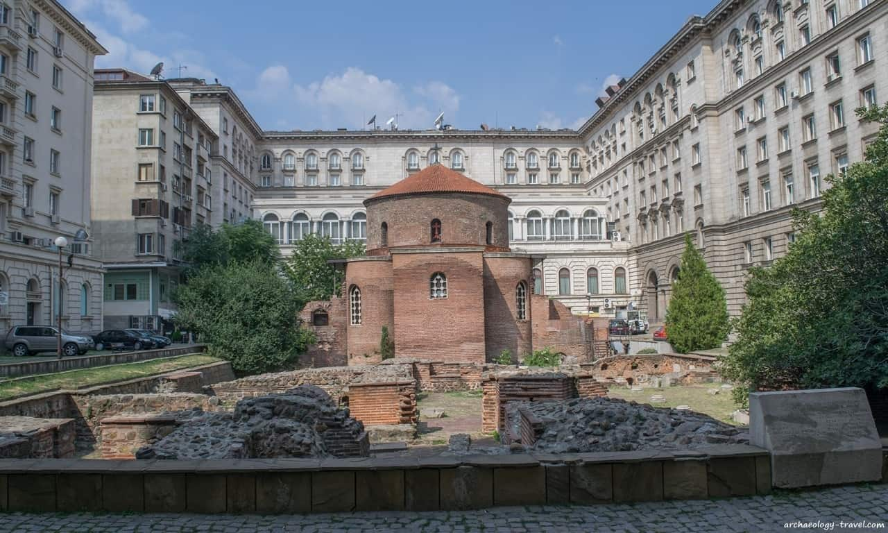 Church of St George Rotunda in the courtyard of the Presidency.