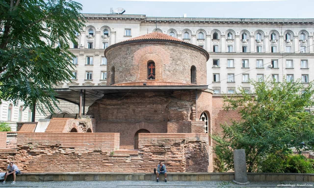The 4th century church of St George, the oldest building in Sofia.
