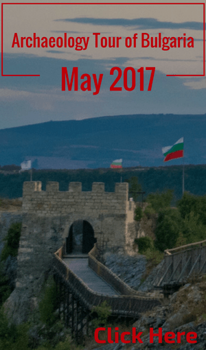 Details of an archaeology tour of Bulgaria, May 2017.