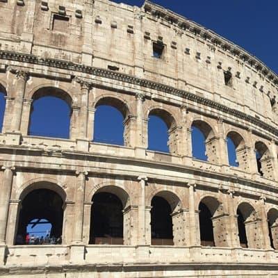 The Flavian amphitheatre, or Colosseum, in Rome.