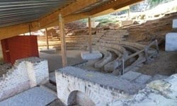 Remains of the Roman theatre in Dalheim.